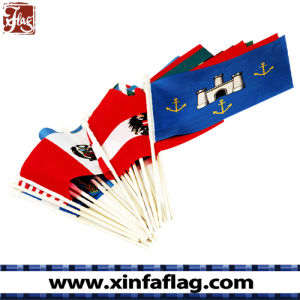 Customized Waving Country or Company Logo Printing Polyester Table Flag, Hand Flag pictures & photos