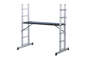 Aluminum Scaffolding Ladder with Wheels pictures & photos