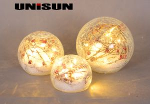 Christmas Decoration Light Glass Craft with Copper String LED Light for Wall Art (18009) pictures & photos