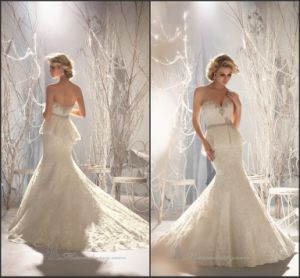 Beaded Bridal Gowns Mermaid Lace Wedding Dresses Z2027 pictures & photos
