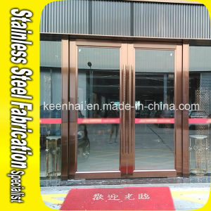Interior Colored Stainless Steel Glass Entry Security Door pictures & photos
