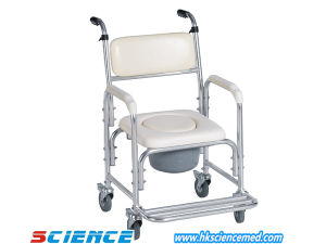 Aluminum Commode Chair with Fold up Footrest (SC-SC15(A)) pictures & photos