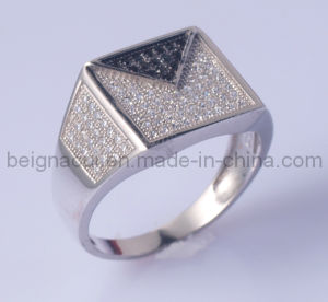 Latest Silver Zircon Ring Design for Men