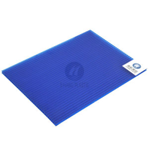 Blue Polycarbonate Hollow Sheet, Twin-Wall PC Sheet pictures & photos