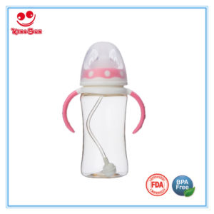 BPA Free PPSU Wide Neck Baby Bottles with LSR Soother pictures & photos