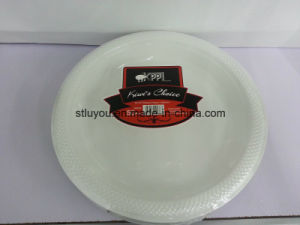 10 Inch Disposable Plastic 3 Compartment Plate pictures & photos