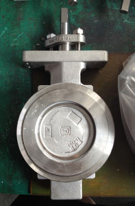 Wafer Type Metal or Hard Seated Triple Eccentric Butterfly Valve pictures & photos