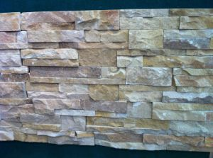 Tiger Yellow Slate Culture Stone Wall Stone (SSS-48) pictures & photos
