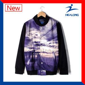 Healong Fahshion Design Clothing Sublimation Men′s Baseball Jacket pictures & photos
