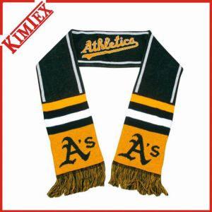 Outdoor Stadium Football Fans Knitted Jacquard Sports Scarf pictures & photos