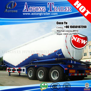 3 Axles 100tons Powder Material Bulk Cement Tank Trailer pictures & photos