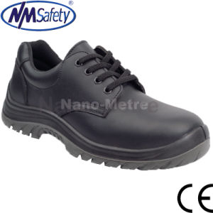 Nmsafety Industrial Work Smooth Leather Safety Shoes pictures & photos