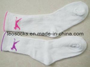 White Teryy Ladies Sports Socks pictures & photos