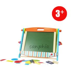 Wooden Learning Blackboard Playset for Christmas, Double Side Wooden Learn Blackboard pictures & photos