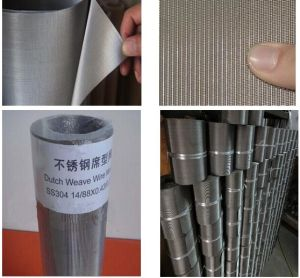 Stainless Steel Dutch Weave Filter Cloth 200X600mesh/23 Micron Filter Fineness pictures & photos