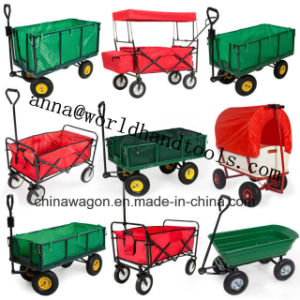 Factory Outlets Center Folding Metal Wheelbarrow Folding Trolley pictures & photos