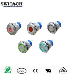 SGS Illuminated 19mm Micro Metal Push Button Power Switch