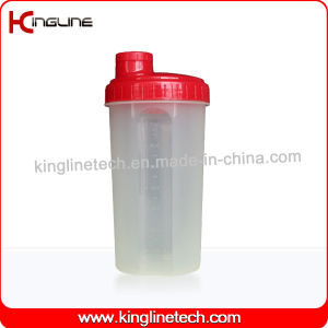 700ml Plastic Protein Shaker Bottle with Filter (KL-7027) pictures & photos