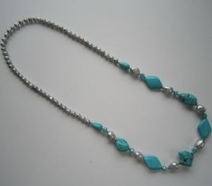 China Wholesale Hot New Pearl&Turquoise Necklace for 2015 pictures & photos