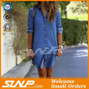 Women Fashion Clothing Casual Denim Dress T-Shirt