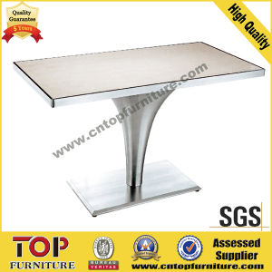 Rectangular Stainless Steel Restaurant Dining Table pictures & photos