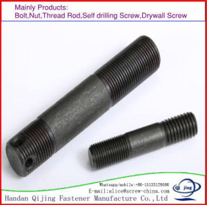 High Strength Stud Bolt 45# M8-36 35CrMo Full Buckle pictures & photos