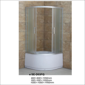 High Tray Bathroom Simple Shower Room with Fabric Glass pictures & photos