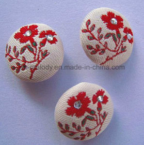 Beautiful Embroidered Fabric Brads for Scrapbooking pictures & photos