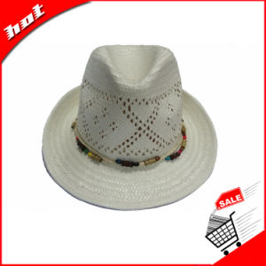 Customed Paper Straw Fedora Sun Panama Hat pictures & photos