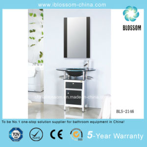 Modern Slim Bathroom Glass Vanity (BLS-2146) pictures & photos