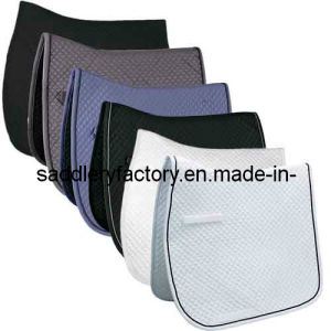Wholesale Poly Cotton Horse Saddle Pad Cloth (SMS5121) pictures & photos