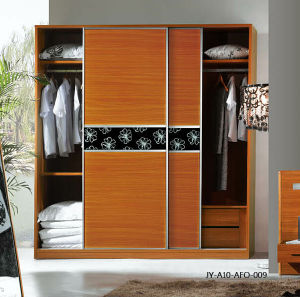 Melamine MDF Series Sliding Door for Wardrobe (JY-A10-AFO-009) pictures & photos
