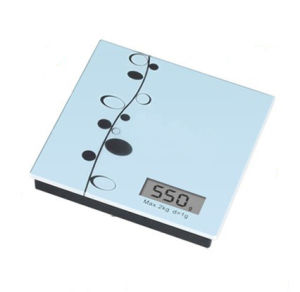 Qh Brand Digital Food Balance Kitchen Weight Scale with Super Slim Stainless Steel Platform and 2kg Capacity