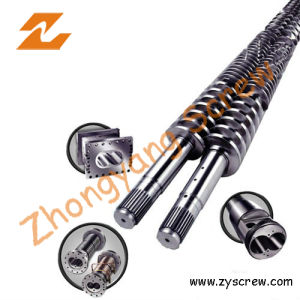 PVC Poam Board Twin Conical Screw and Barrel pictures & photos