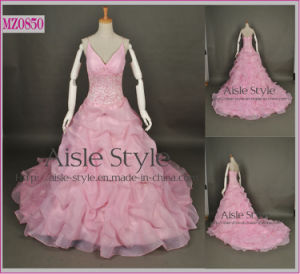 Extravagant Pink Bubble Wedding Dress Prom Dress (MZ0850)