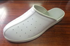 PU Cold Glue White Slippers pictures & photos