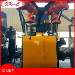 High Quality Double Auto Rotating Hooks Shot Blasting Machine pictures & photos