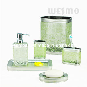 Transparant Green Polyresin Bath Accessories (WBP0818A) pictures & photos