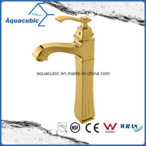 Polished Gold High Body Brass Bathroom Basin Mixer Water Tap pictures & photos