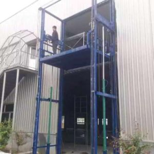 Goods Vertical Guide Cargo Elevators Hydraulic Rail Lift Price pictures & photos