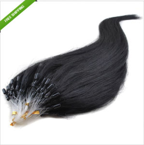 Indian Hair Easy Loop Ring Hair Extensions pictures & photos