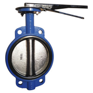 Wafer Type Concentric Butterfly Valve with Lever Operator pictures & photos