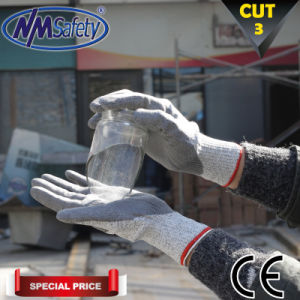 Nmsafety PU Coated Cut Resistant 3 Working Glove pictures & photos