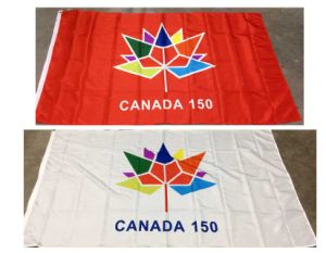 Fast Delivery High and Cheap Quality Car Flag 150th Anniversary of Canada pictures & photos