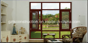 Tempered Glass Sound Insulation Aluminum Window with Fly Screen pictures & photos