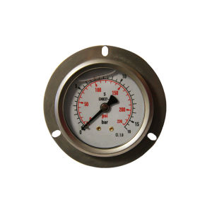 2.5inch-63mm Half Stainless Steel Back Liquid Filled Pressure Gauge with Flange pictures & photos