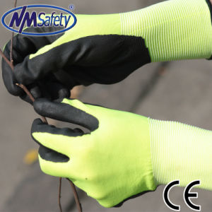 Nmsafety Palm Coated Foam Nitrile Safety Gloves pictures & photos