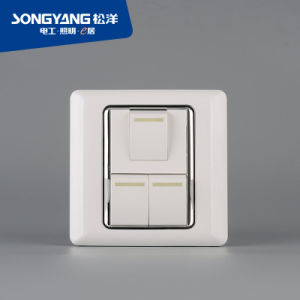 Flame Retardant PC Plastic Series 3gang Switch pictures & photos