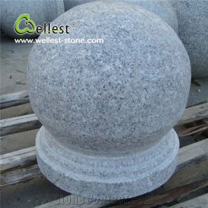 Natural Maple Red Ball Parking Stone, Round Granite Parking Barriers pictures & photos