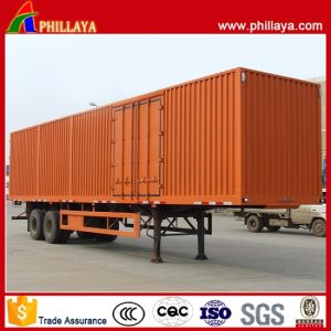 Enclosed Box Trailer Tandem Axle Curtain Truck Side Semi-Trailer pictures & photos